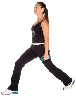iposture exercise lunges basic weigths